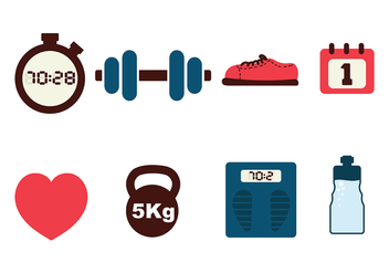 Fitness Icon Pack Vector - бесплатный vector #416639