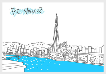 The Shard View - vector gratuit #416649