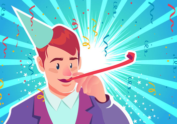 Blowing Party Blower - vector #416659 gratis