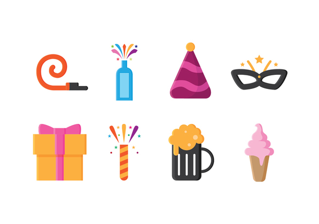 Free Party Icons - vector #416679 gratis