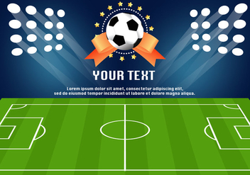 Football Ground Stadium Template - vector gratuit #416729