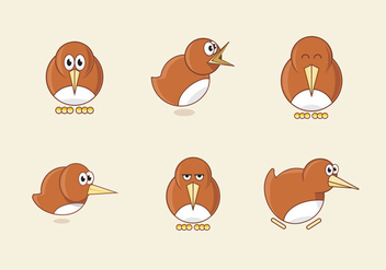 Kiwi bird cartoon illustration - vector gratuit #416739