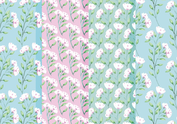 Vector Spring Roses Patterns - Free vector #416849