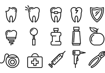 Set Of Dentista Icons - vector #416929 gratis