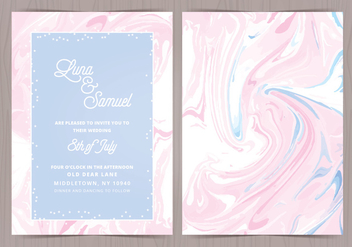 Vector Marble Effect Wedding Invite - бесплатный vector #416939