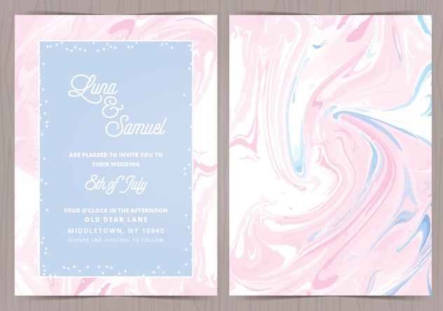 Vector Marble Effect Wedding Invite - vector #416939 gratis