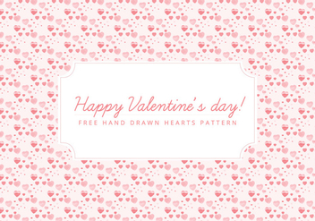 Vector Tiny Hearts Valentine's Day Background - vector #416969 gratis