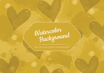 Vector Watercolor Yellow Background - бесплатный vector #416979