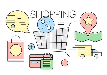 Free Shopping Icons - vector gratuit #417059