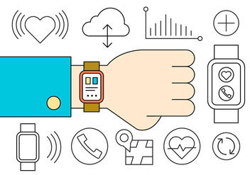 Smart Watch Icons - vector #417069 gratis
