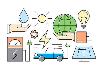 Free Green Energy Icons - vector gratuit #417099