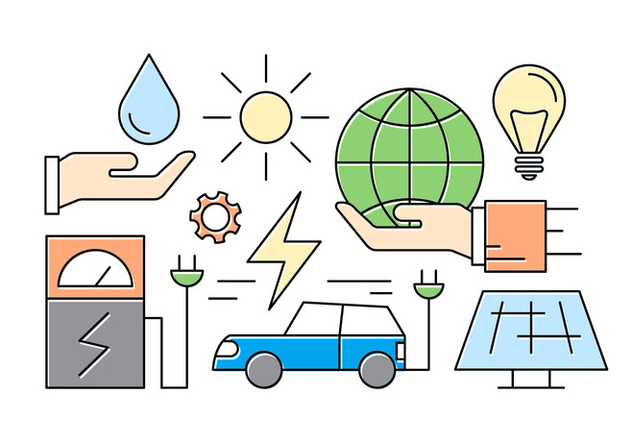 Free Green Energy Icons - Kostenloses vector #417099