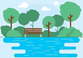 Free Vector Outdoor Park Illustration - Kostenloses vector #417209