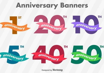 Anniversary Vector Banners - Free vector #417259