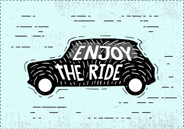 Free Hand Drawn Mini Car Background - бесплатный vector #417389