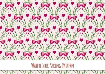 Free Vector Watercolor Pattern - Free vector #417409
