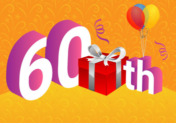 Free 60th Vector Illustration - Free vector #417429