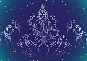 Lakshmi Goddes Of Wealth - Free vector #417469