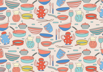 Cocina Pattern Colorful Vector - Free vector #417479
