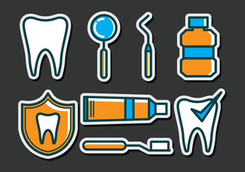 Dentista Icons - vector #417529 gratis