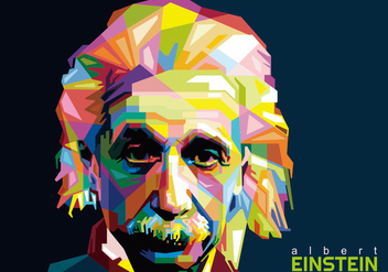 Albert Einstein WPAP - Free vector #417539