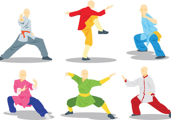Free Wushu Icons Vector - Free vector #417619