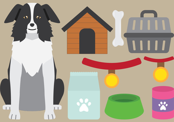 Dog Supplies Icons - Free vector #417629