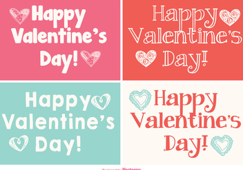 Cute Mini Valentine's Day Cards Collection - vector gratuit #417789