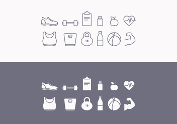 Vector Fitness Icon Set - Free vector #417839