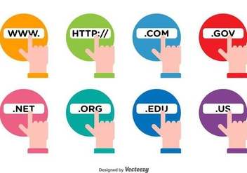 Address Bar Vector Icons - Free vector #417849