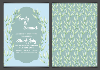 Vector Blue Elegant Wedding Invitation - Kostenloses vector #417859