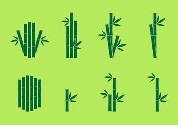 Bamboo Icon vector set - vector gratuit #417889