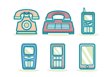 Tecnologia Phone Evolution Icon - vector gratuit #417919