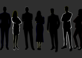 Business Person Silhouette - vector gratuit #418039