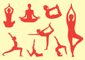 Yoga Pose Vector Pack - vector gratuit #418049