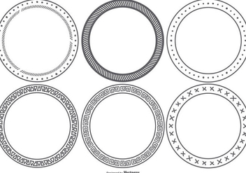 Hand Drawn Style Frames - Free vector #418129