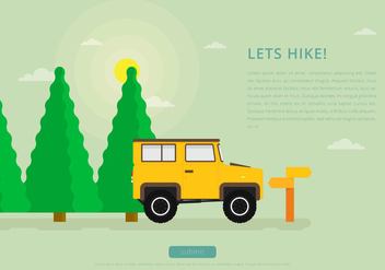 Sapin Jungle Hiking With Landrover - vector gratuit #418149