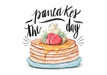 Pancake's Day Illustration - vector gratuit #418209