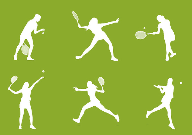 Tennis Silhouette Free Vector - Free vector #418289