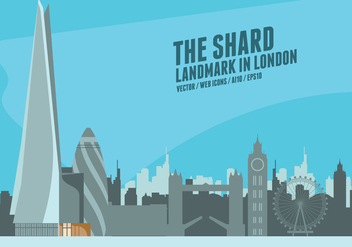 The Shards London - vector gratuit #418319