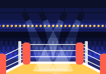Free Wrestling Ring Vector Illustration - Kostenloses vector #418349