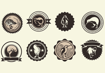 Set of Kiwi Vector Icons - vector gratuit #418389