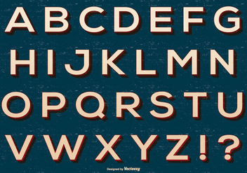 Retro Alphabet Collection - Free vector #418399