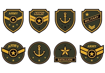 Free Army Emblem Vector - Free vector #418409