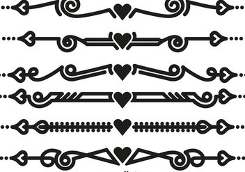 Vector Ornamental Dividers - vector gratuit #418549
