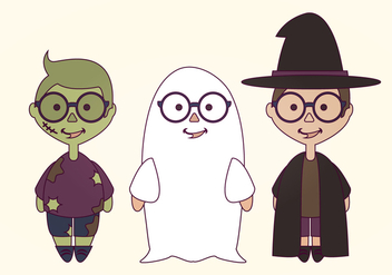 Vector Halloween Costumes - vector gratuit #418589