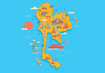 Bangkok Map Vector - Free vector #418599