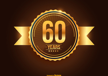 60th Anniversary Illustration - vector #418609 gratis