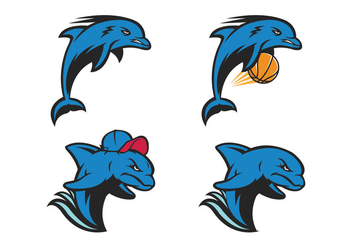 Free Dolphin Vector - Free vector #418619
