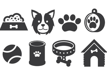 Free Border Collie Icons Vector - Kostenloses vector #418689
